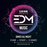 EDM Club Music Party Template, Dance Party Flyer, brochure. Night Party Club sound Banner Poster. EDM Club Music Party Template, Dance Party Flyer, brochure Royalty Free Stock Images