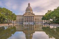 edmonton Здание законодательой власти Альберты стоковые изображения