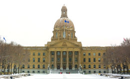 Edmonton, ab, Canada 8 November 2014: De wetgevende machtbuildi van Alberta stock afbeelding