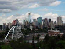 Edmonton Alberta Cityscape Or Skyline Stock Afbeelding