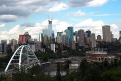 Edmonton Alberta Cityscape Or Skyline Photographie stock libre de droits