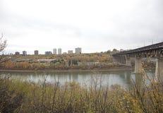 Edmonton alberta på hög nivå bro Arkivfoton