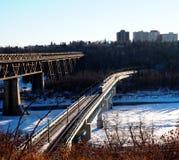 Edmonton Alberta Skyline Stock Afbeelding
