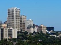 Edmonton Alberta Skyline With Blue Sky Stock Fotografie
