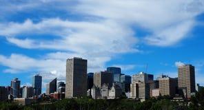 Edmonton Alberta Skyline With Clouds Royalty-vrije Stock Fotografie