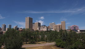 Edmonton Alberta Skyline Stock Photography