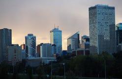 Edmonton Alberta Skyline At Dusk Stock Images