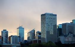 Edmonton Alberta Skyline At Dusk Royalty Free Stock Photography