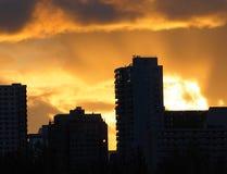 Edmonton Alberta Skyline At Dusk Stock Image