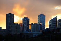 Edmonton Alberta Skyline At Dusk Stock Photos