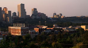 Edmonton Alberta Skyline At Dusk Royalty Free Stock Images