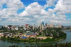 Edmonton céntrica Imágenes de archivo libres de regalías
