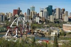 Edmonton,Canada,April 20, 2016: Building bridges - new Landmark Royalty Free Stock Photo