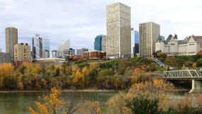 Edmonton, Canada city center with colorful aspen in autumn Stock Photos