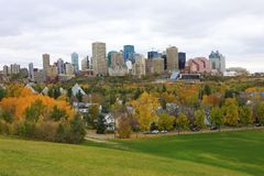 Edmonton, Canada cityscape with colorful aspen in fall Stock Photos