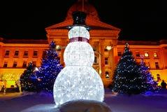Edmonton, Canada 27 décembre 2016 : Lumières de Noël chez Alberta Legislative Grounds Photos libres de droits