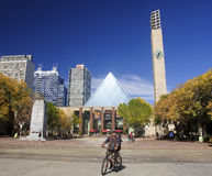 EDMONTON, CANADA - SEPTEMBER 13, 2016: Edmonton s City Hall on 1. 3 September 2016 in Edmonton, Canada. City Hall it was designed by Dub Architects, the building stock photos
