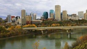 Edmonton city center across North Saskatchewan River. An Edmonton city center across North Saskatchewan River royalty free stock photography