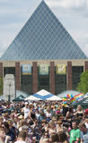 Edmonton City Hall. During pride week Royalty Free Stock Images