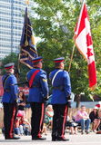 Edmonton City Police In K-Days Parade Stock Photo