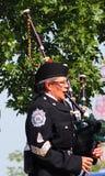 Edmonton City Police Pipe Band In K-Days Parade Stock Photos