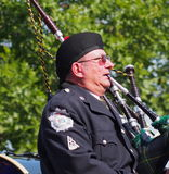 Edmonton City Police Pipe Band In K-Days Parade Royalty Free Stock Photography