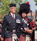Edmonton City Police Pipe Band In K-Days Parade stock photography
