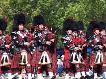 Edmonton City Police Pipe Band In K-Days Parade Stock Images