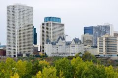 Edmonton City Skyline Royalty Free Stock Photos