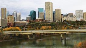 Edmonton cityscape across North Saskatchewan River. An Edmonton cityscape across North Saskatchewan River stock photography