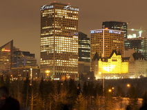 Edmonton Cityscape In Winter Royalty Free Stock Image