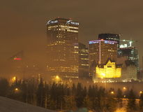 Edmonton Cityscape In Winter Royalty Free Stock Images
