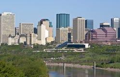 Edmonton de stad in Royalty-vrije Stock Foto