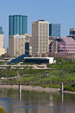 Edmonton de stad in Stock Fotografie