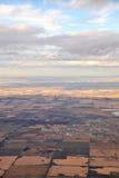 Edmonton in de voorsteden van lucht Stock Afbeeldingen