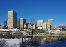 Edmonton in de Winter Royalty-vrije Stock Fotografie