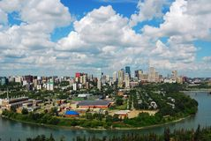Edmonton downtown Royalty Free Stock Images