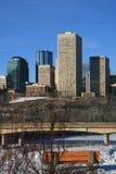 Edmonton en hiver Photos stock