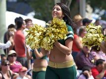 Edmonton Eskimo Cheerleaders royalty free stock photos