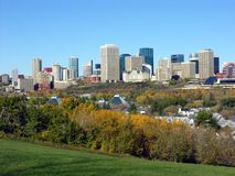 Edmonton in Fall. Edmonton city skyline in the fall stock photography