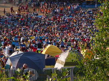 Edmonton Folk Festival Tents And People Stock Image