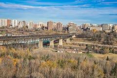 Edmonton high level bridge in fall season Royalty Free Stock Photo