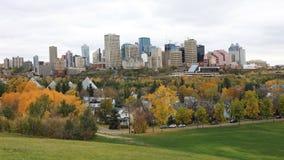 Edmonton Kanada som är i stadens centrum i nedgången, en timelapse 4K arkivfilmer