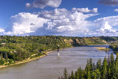 Edmonton landscape. North Saskatchewan river valley landscape in summer, Edmonton,Alberta stock photography
