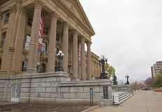 Edmonton legislature building tours and steps Stock Photo