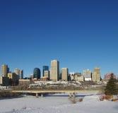 Edmonton nell'inverno Fotografia Stock Libera da Diritti