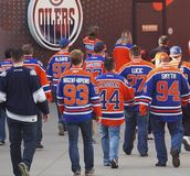 Hockey Fans In Jerseys On Game Day
