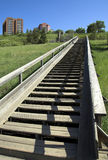 Edmonton park. Stairs leading up the river valley in Edmonton Alberta Royalty Free Stock Photo