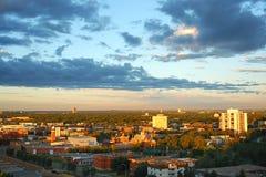 Edmonton por la mañana imagenes de archivo