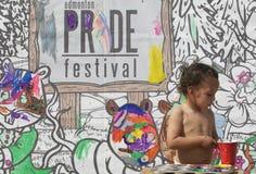 Edmonton Pride Festival painting Royalty Free Stock Image